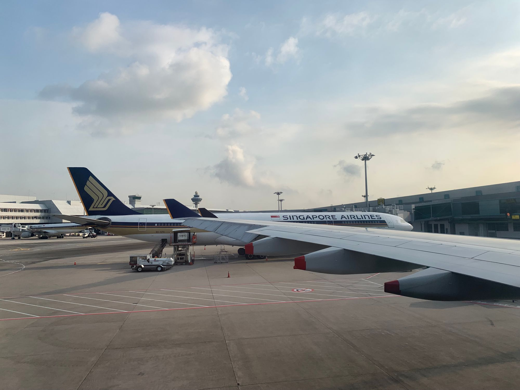 Starting the last leg of the trip, SIN to KUL