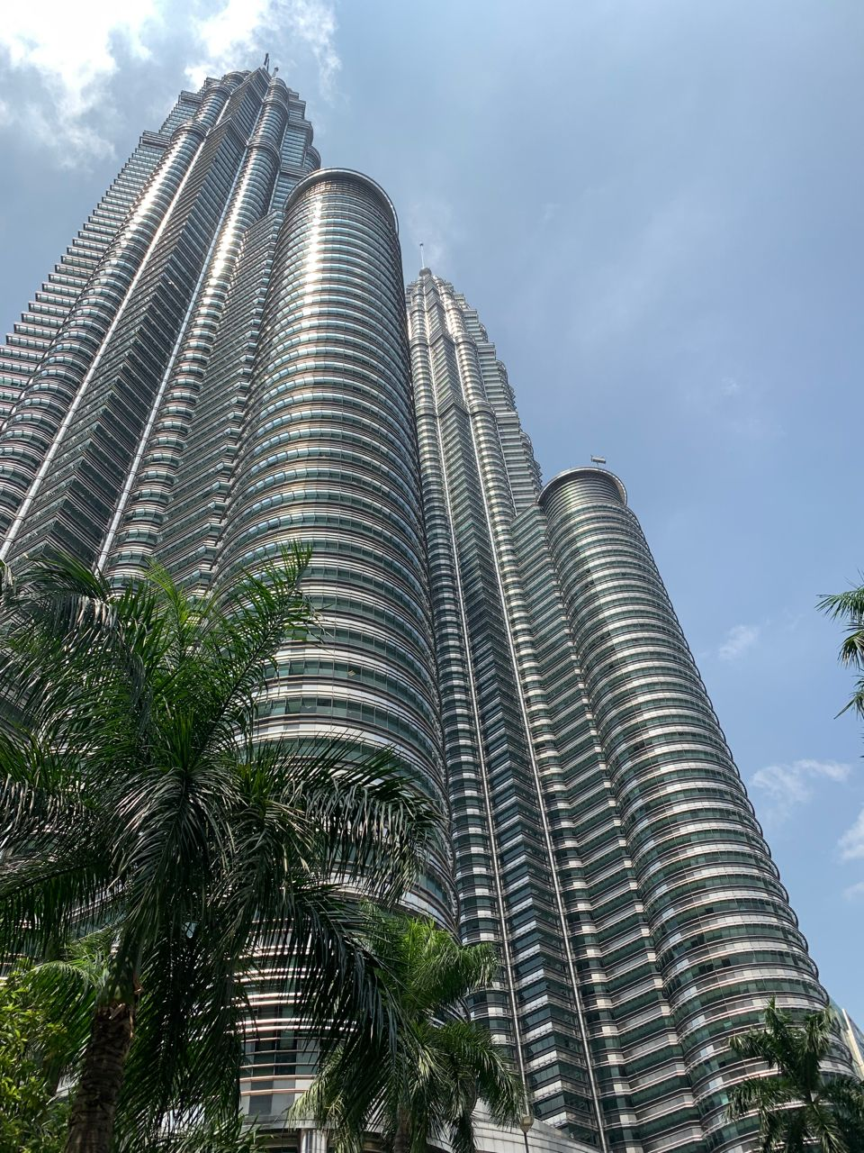 The Petronas Twin Towers, world's highest structure from 1998 to 2004