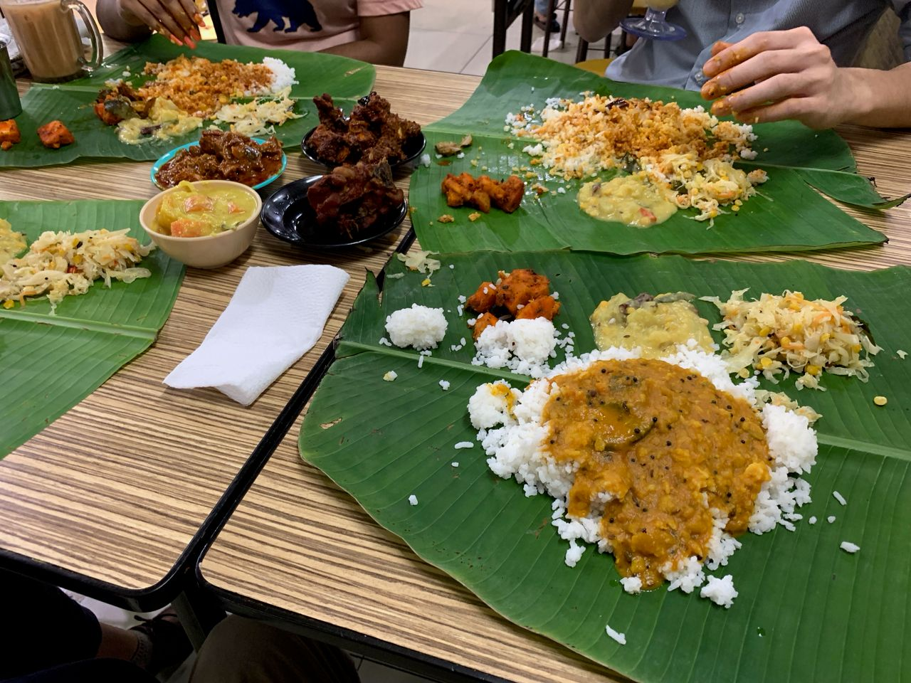 Another dish we always have to have, banana leaf rice